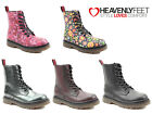 Ladies Chunky Ankle Boots Heavenly Feet Lace Up Fashion Vegan Winter Warm Shoes