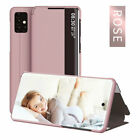 For Samsung Note 10 A20S S20+ Ultra 5G Smart View Flip Leather Slim Case Cover