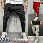Внешний вид - Men Casual Baggy Joggers Pants Sweatpants Cargo Active Sports Slim-Fit Trousers