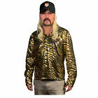 Mens Tiger Trainer Halloween Costume Long Sleeve Animal Stripe Shirt SM LXL 2XL
