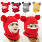 Toddler Kids Girl Boy Baby Winter Warm Hat Scarf Beanie Knit Cap SKull Cover US
