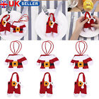 6X Santa Suit Christmas Cutlery holder tableware Home Party Table Dinner Decora