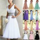 Women Long Formal Wedding Dress Party Prom Bridesmaid Party Lace Long Maxi Dress