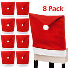 4pcs Classic Christmas Chair Covers Dining Slipcovers Seat Xmas Home Party Decor