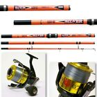 4.2M SILVER SANDS BEACH CASTER CARBON ROD SEA FISHING + TIGER 870 SEA REEL