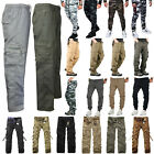 Mens Camo Military Army Cargo Pants Tactical Softshell Casual Work Long Trousers
