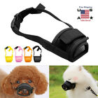 Pet Dog Adjustable Bark Bite Mesh Mouth Muzzle Cover Grooming Anti Stop Chewing