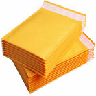 Gold Bubble Lined Padded Envelopes Mailer Post Bags Featherpost 110 x 165mm - A