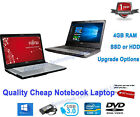 Cheap Fast  Windows 10 Laptop Dual Core I3 3rd Gen 2.50ghz 8gb 256gb Ssd Webcam
