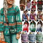 Lady Casual Retro Festival Knitted Sweater Pullover Women Reindeer Casual Jumper