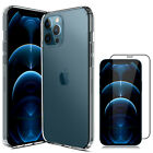 For iPhone 12/Pro/Max/Mini 5G Case Clear Slim Cover,Camera Lens Screen Protector