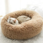 New Warm Comfy Calming Dog/Cat Bed Round Super Soft Plush Pet Bed Marshmallow