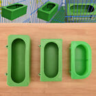 Plastic Green Food Water Bowl Cups Parrot Bird Pigeons Cage Cup Feeding Fe TDUK