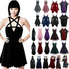 Women Retro Cosplay Costume Lady Vintage Punk Gothic Steampunk Party Dresses