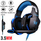Gaming Headset Mic Stereo Bass Surround Headphone For PS4 PS5 Xbox One Series X