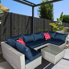 9 Piece Outdoor Garden Rattan Sofa Lounge Set Couch Wicker Table Chairs Patio