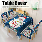 Christmas Flexibility Tablecloth Chair Covers for Kitchen Dining Room Xmas Decor