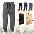 Mens Thick Fleece Thermal Trousers Outdoor Winter Warm Casual Pants Joggers