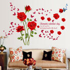 Red Roses Wall Stickers Living Room Couple Bedroom Home Decoration E4h