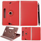 """Rotating 360° PU Leather 7"""" 9.7"""" 10 inch Stand Case Cover For Android Tablet PC"""