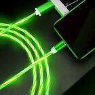 Magnetic LED Lighting Up USB Phone Charging Cable For 2X iPhone Type C Micro