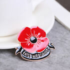 1*Remembrance Brooch Red Poppy Flower Lapel Pin Broach Badge Banquet Gift