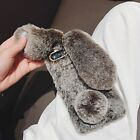 For Galaxy A51 A10E A20E A70 Note Bunny Fur Plush Fuzzy Fluffy Soft Phone Cases