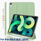 For iPad Air 4th Gen 10.9 Inch 2020 PU Smart Case Cover Stand With Pencil Holder