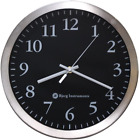 Bjerg Instruments Modern 12 Stainless Silent Wall Clock with Non Ticking Quiet