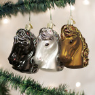 Old World Christmas Glass Horse Head Ornament