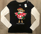 New Justice Girls Ugly Sweater Long Sleeve Christmas Shirt Size 14, 18 or 20