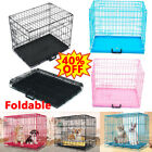 Pink, Blue, Black Dog Cage Puppy Crate & Tray Training House Foldable Easy Carry