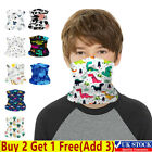 Kids Boys Girls Face Cover Neck Warmer Tube Scarf Biker Snood Balaclava Bandana-