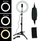 6'' /10''/ 8'' LED Ring Fill Light Dimmable for YouTube Live Makeup