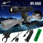 850nm Infrared Torch Hunting Night Vision IR Air Gun Light Hog Fox Scope Mount