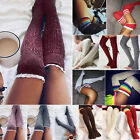 Fashion Women's Winter Knit Over Knee Long Boot Socks Thigh High Warm Stockings