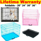 DOG CAGE PUPPY TRAINING CRATE PET CARRIER - SMALL MEDIUM LARGE M L XL XXL CAGES
