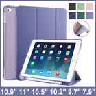 PU Smart Cover Case For iPad 10.2 8th 7th 10.9 Air 4 6th 9.7 With Pencil Holder