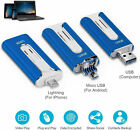 3 In 1 128/512GB OTG Pen Drive USB 3.0 Flash Memory Stick For IOS Andriod Window