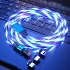 540° Rotate LED Light Up Charger Charging Cable USB for iPhone Samsung PS4 XBOX