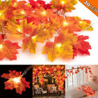 Party 30/40/80 LED Outdoor Harvest Lamp Light Maple Leaves Fall String Lights US
