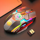 Wireless Mouse Gaming Led Laser Usb Optical Game Rechargable Silent Laptop Mini