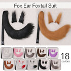 Faux Fur Ear  Tail Set Fox Animal Anime Cosplay Props Party Costume