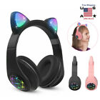 Wireless Bluetooth 5.0 Headphones LED light Flashing Glowing Earphones Headsets