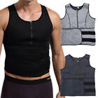 Men Sauna Sweat Slimming Fitness Top Trainer Vest Waist Gym Training Body Shaper