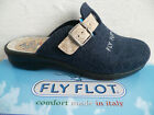 Fly Flot Slippers House Shoes Clogs Blue New