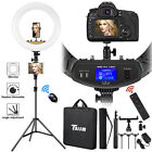 "18"" LED Ring Light Kit w/ Stand Dimmable 6000K For Makeup Phone Camera Youtube"