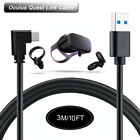 Link Cable for VR Oculus Quest 2 Type-C to USB A Charging Cord Extender Adapter