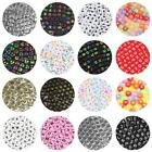 Mixed Letter Acrylic Beads Round Flat Alphabet Digital Cube Loose Spacer Beads