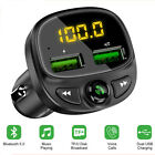 Car LED QC3.0 Adapter Dual USB Charger Transmitter FM Handsfree Charger Slot